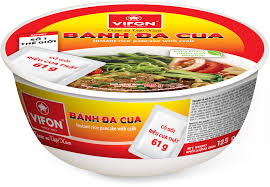 banh da cua crab flavour hai phong style instant rice noodles in a bowl